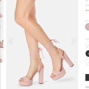 Never worn Just Fab Blush High Heels